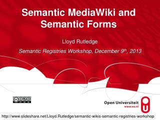 Semantic MediaWiki and Semantic Forms