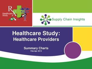 Healthcare Study: Healthcare Providers Summary Charts Feb-Apr 2013