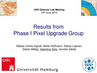 Results from Phase I  Pixel Upgrade Group