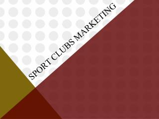 Sport Clubs Marketing