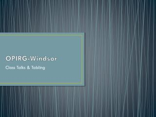 OPIRG-Windsor
