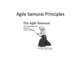 Agile Samurai Principles