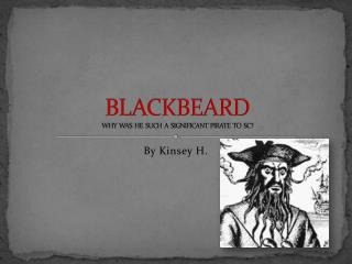 BLACKBEARD WHY  WAS  HE  SUCH  A  SIGNIFICANT  PIRATE  TO  SC?