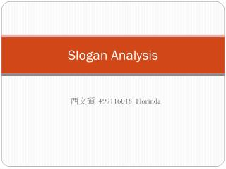 Slogan Analysis