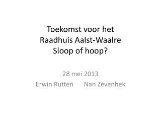 Toekomst voor het Raadhuis Aalst-Waalre Sloop of hoop?