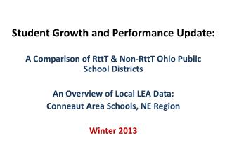 Student Growth and Performance Update: