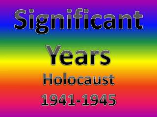 Significant Years
