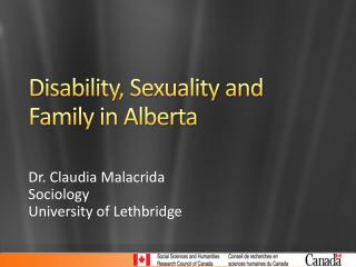 Disability, Sexuality and Family in Alberta