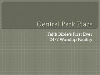 Central Park Plaza