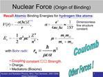 Nuclear Force Origin of Binding