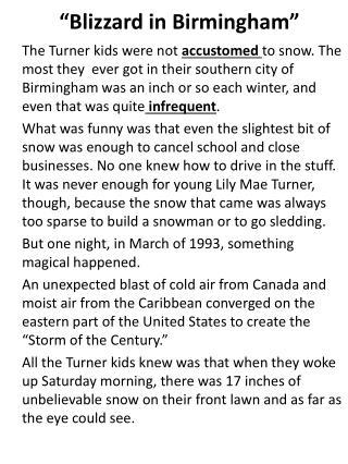 �Blizzard in Birmingham�