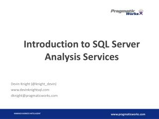 Introduction to SQL Server Analysis Services