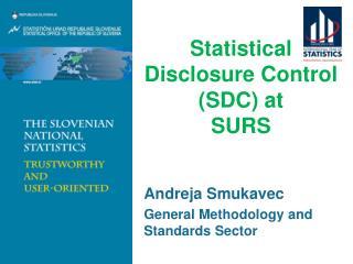 Statistical Disclosure Control (SDC) at  SURS