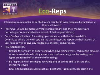 Eco -Reps