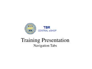 Training Presentation Navigation Tabs