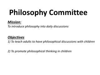 Philosophy Committee