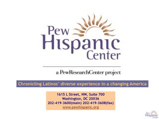 Chronicling Latinos� diverse experience in a changing America
