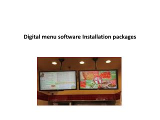 Digital menu software installation packages