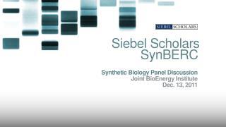 Siebel Scholars SynBERC .