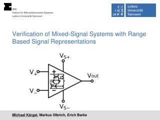 Verification of Mixed-Signal Systems  with  Range Based Signal Representations