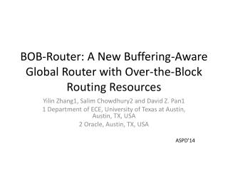 BOB-Router: A New Buffering-Aware Global Router with  Over-the-Block Routing Resources