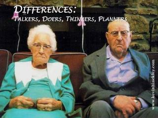 Differences: Talkers, Doers, Thinkers, Planners