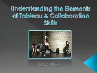 Understanding the Elements of Tableau & Collaboration Skills