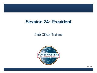 Session 2A: President