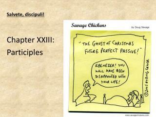 Salvete ,  discipuli ! Chapter  XXIII:  Participles