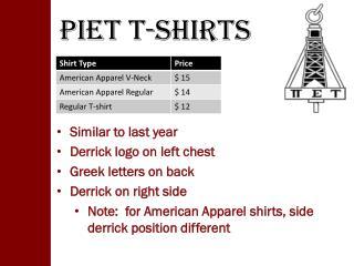 PIET T-Shirts