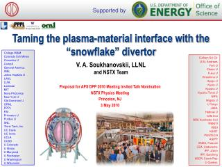 Taming the plasma-material interface with the �snowflake� divertor