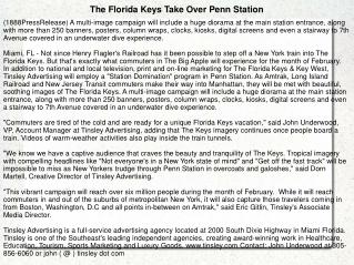 The Florida Keys Take Over Penn Station