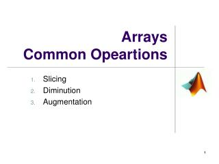 Arrays Common Opeartions