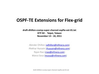 OSPF-TE Extensions for Flex-grid