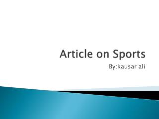 Article on Sports