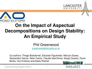 On the Impact of Aspectual Decompositions on Design Stability: An Empirical Study