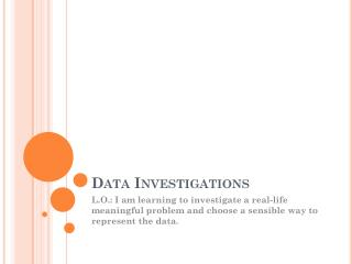 Data Investigations