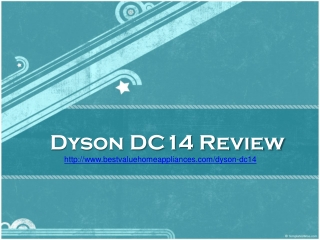 Dyson DC14 Review