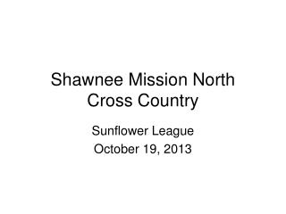 Shawnee Mission North Cross Country