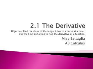 Miss  Battaglia AB Calculus