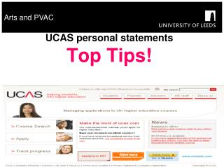 UCAS personal statements Top Tips!