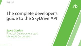 The complete developers guide to the SkyDrive API
