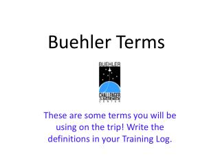 Buehler Terms