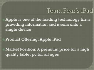 Team Pear�s  iPad
