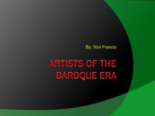 Artists of the Baroque Era
