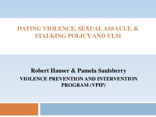 Dating violence, sexual assault, & stalking policy and  ulm