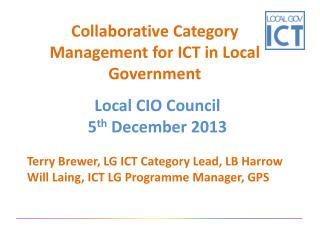 Collaborative Category Management for ICT in Local Government