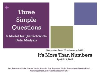 A Model for District-Wide Data Analysis