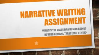 Narrative Writing assignment