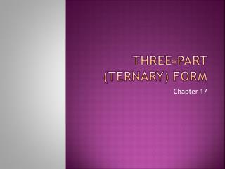 Three-part (ternary) form